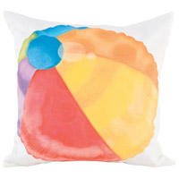 Guildmaster 2917025 Beach Ball 24 X 24 inch Handpainted Art Pillow