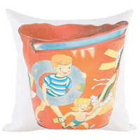 Guildmaster 2917026 Beach Pail 24 X 24 inch Handpainted Art Pillow