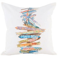 Guildmaster 2917028 Beach Sign 24 X 24 inch Handpainted Art Pillow