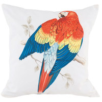 Guildmaster 2917029 Red Parrot 24 X 24 inch Handpainted Art Pillow