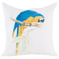 Guildmaster 2917030 Blue Parrot Macaw 24 X 24 inch Handpainted Art Pillow