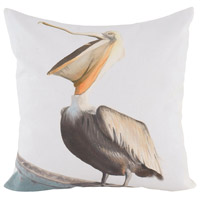 Guildmaster 2917031 Pelican 24 X 24 inch Handpainted Art Pillow