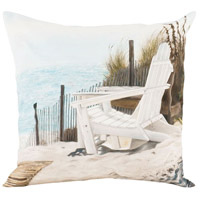Adirondack Landscape 24 X 24 inch Handpainted Art Pillow