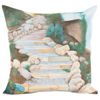 Guildmaster 2917035 Stone Path 24 X 24 inch Handpainted Art Pillow