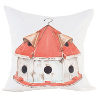 Guildmaster 2917036 Birdhouse 24 X 24 inch Handpainted Art Pillow