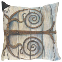 Guildmaster 2917041 Garden Gate 24 X 24 inch Handpainted Art Pillow