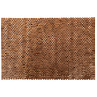 Signature 71 X 47 inch Euro Teak Oil Outdoor Wooden Rug
