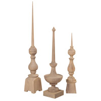 Olde World Honey Oak Finial