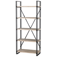 Guildmaster 3187-006 Gustave 75 X 40 X 17 inch Natural Woodtone and Tin Shelf, 5 Layer