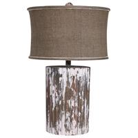 Guildmaster 350040 Wood Cylinder 29 inch 150 watt Wood Tone Table Lamp Portable Light