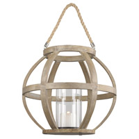 Corkhead 15 inch Natural Hurricane Portable Light, Round