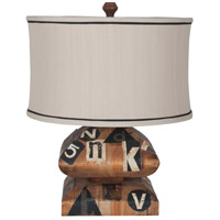 Graphics 24 inch 100 watt Natural Aged Woodtone Accent Lamp Portable Light