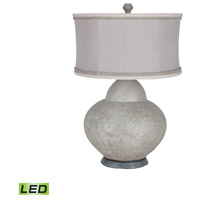 Terracotta 32 inch 9.5 watt Concrete Gourd Lamp Portable Light