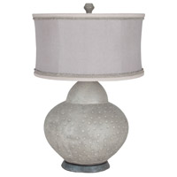 Gourd 32 inch 100 watt Concrete and Taupe and Rope Table Lamp Portable Light
