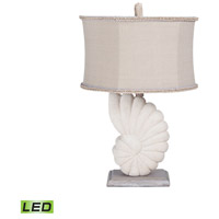 Stone Nautilus 29 inch 9.5 watt Aged Silver Table Lamp Portable Light