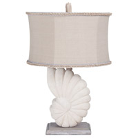 Stone Nautilus 29 inch 100 watt Aged Silver and Oyster Table Lamp Portable Light