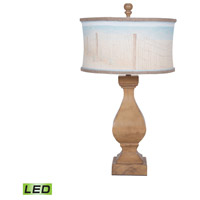Carved Beacon 32 inch 9.5 watt Artisan Stain Table Lamp Portable Light