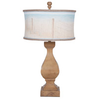 Carved Beacon 32 inch 100 watt Artisan Stain Table Lamp Portable Light
