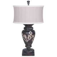Turned Urn 32 inch 100 watt Heritage Grey Stain Table Lamp Portable Light