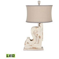 Carved Corbel 34 inch 9.5 watt Rosa Table Lamp Portable Light
