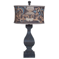 Carved Beacon 32 inch 100 watt Ash Black Stain Table Lamp Portable Light