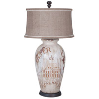 Terra Cotta I 34 inch 100 watt Handpainted Art Table Lamp Portable Light
