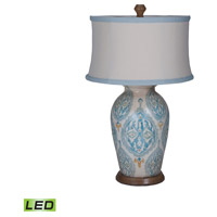 Terracotta 31 inch 9.5 watt European Tile Art Table Lamp Portable Light