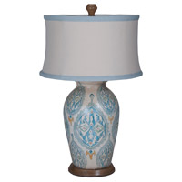 Terra Cotta VII 31 inch 100 watt European Tile Art Table Lamp Portable Light