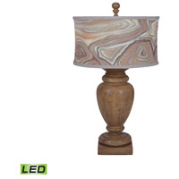 Turned Urn 31 inch 9.5 watt Artisan Dark Stain Table Lamp Portable Light