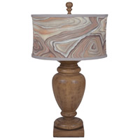 Turned Urn 31 inch 100 watt Artisan Dark Stain Table Lamp Portable Light