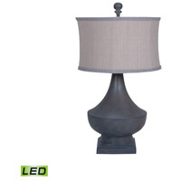 Vintage 31 inch 9.5 watt Heritage Grey Stain Table Lamp Portable Light
