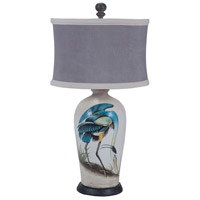 Terra Cotta VIII 31 inch 100 watt Loft White and Handpainted Art Table Lamp Portable Light