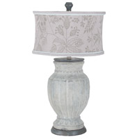 Parma 23 inch 100 watt Concrete and Handpainted Art Table Lamp Portable Light