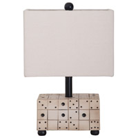 Dice 19 inch Handpainted Table Lamp Portable Light