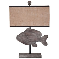 Fish 26 inch Handpainted Table Lamp Portable Light