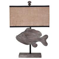 Guildmaster 3516504 Fish 26 inch Handpainted Table Lamp Portable Light