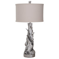 Root 33 inch Silver Leaf Table Lamp Portable Light