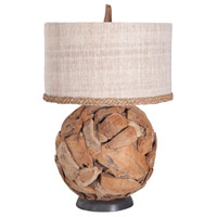 Ball 32 inch Natural Table Lamp Portable Light
