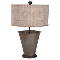 Simple Bucket 29 inch Age Metal Table Lamp Portable Light