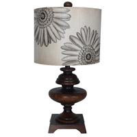 Guildmaster 353524 Marguirite 23 inch 150 watt Brown Table Lamp Portable Light
