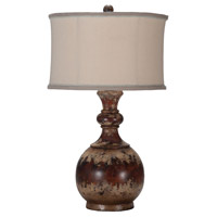 Leyland 31 inch 100 watt Hand-Painted Table Lamp Portable Light