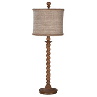 Barley Twist 32 inch 100 watt Honey Oak Spindle Lamp Portable Light