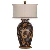 Guildmaster 355016 Terra Cotta 34 inch 100 watt Hand-Painted Table Lamp Portable Light