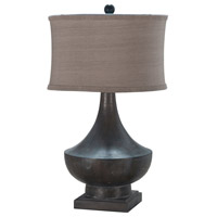 Vintage 31 inch 100 watt Heritage Grey Stain Table Lamp Portable Light