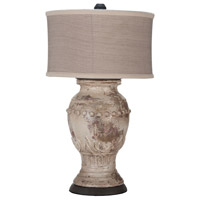 Terra Cotta IX 31 inch 100 watt Weathered Grey and Natural Wood Table Lamp Portable Light