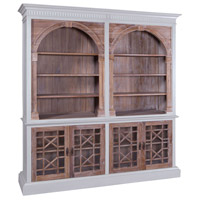 Guildmaster 6017501 Farmhouse Grain De Bois Greige Bookcase
