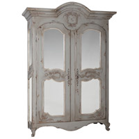Pradana Antique White with Distressed Ice Grey Armoire