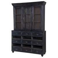 Farmhouse Black Display Cabinet