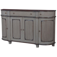 Guildmaster 604004 Italian Heritage Grey Stain with Manor Garden Gate Demilune Chest