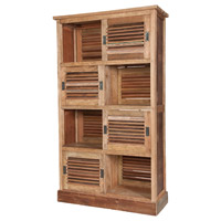 GuildMaster Louvred Cabinet Cabinet in Brown 604008-B